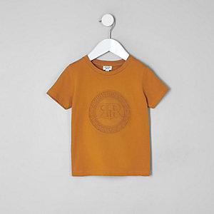 T-Shirt in Orange mit RI-Prägung
