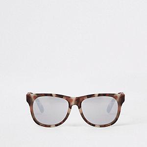 Khaki Retro-Sonnenbrille mit Camouflage