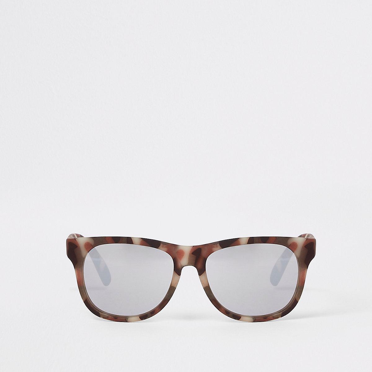 Boys khaki camo retro sunglasses