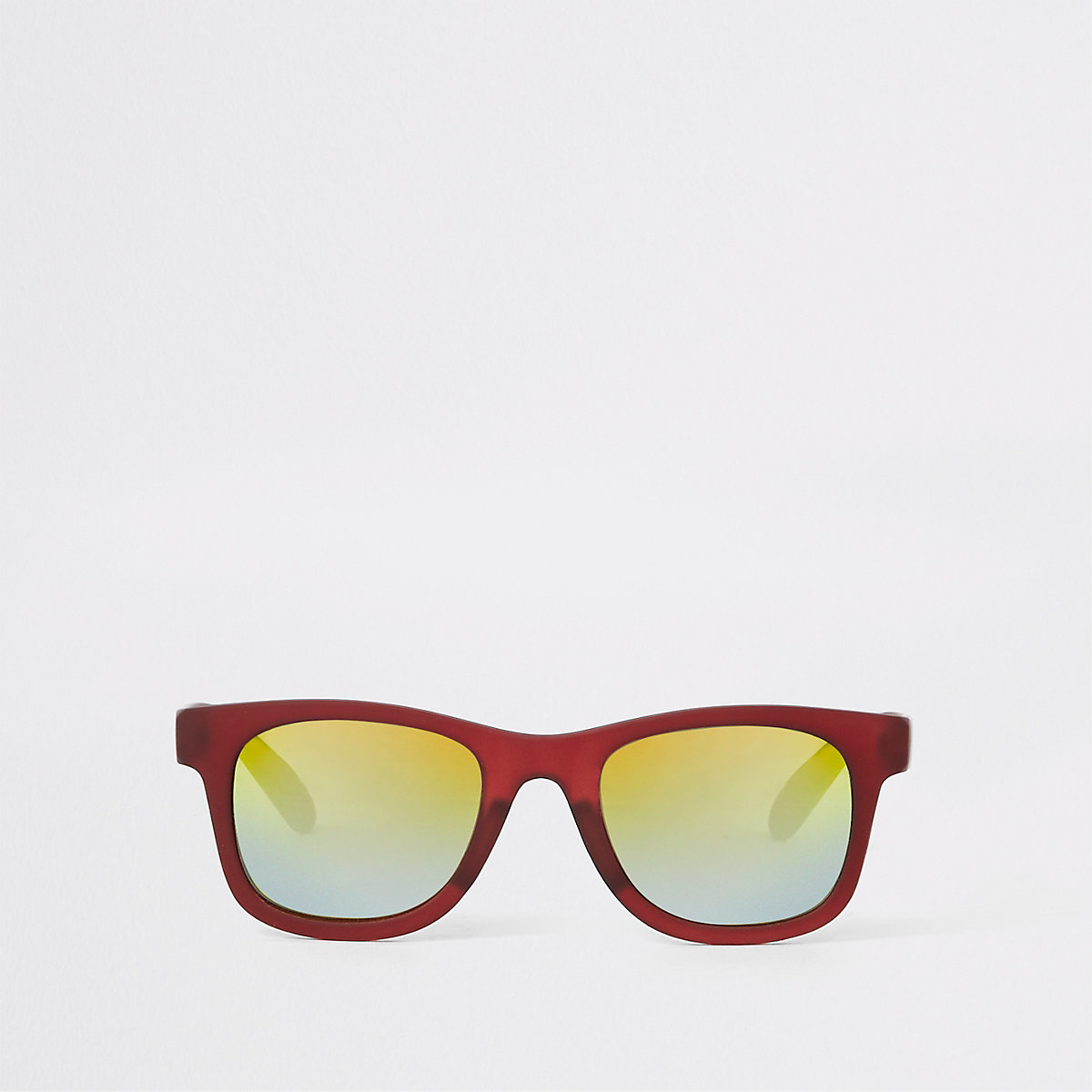 Mini boys red tinted lens retro sunglasses