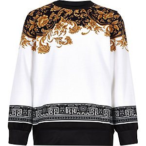 Boys white baroque sweatshirt