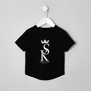Mini boys black 'style king' T-shirt