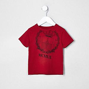 Mini - Rood T-shirt met 'Loyalty'-print voor jongens