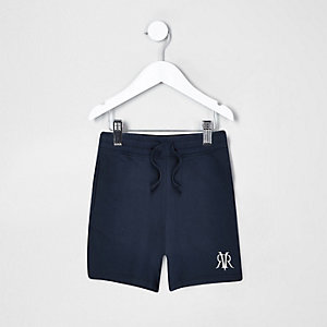 "Marineblaue Shorts mit ""Dude""-Print"