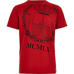 "Rotes T-Shirt mit ""Loyalty""-Print"