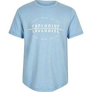 Boys blue 'Exclusive' T-shirt
