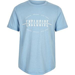 T-shirt «Exclusive» bleu pour garçon