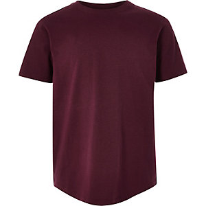 Boys burgundy short sleeve T-shirt