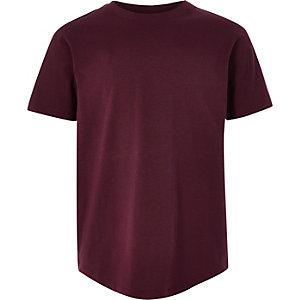 T-shirt bordeaux à manches courtes pour garçon