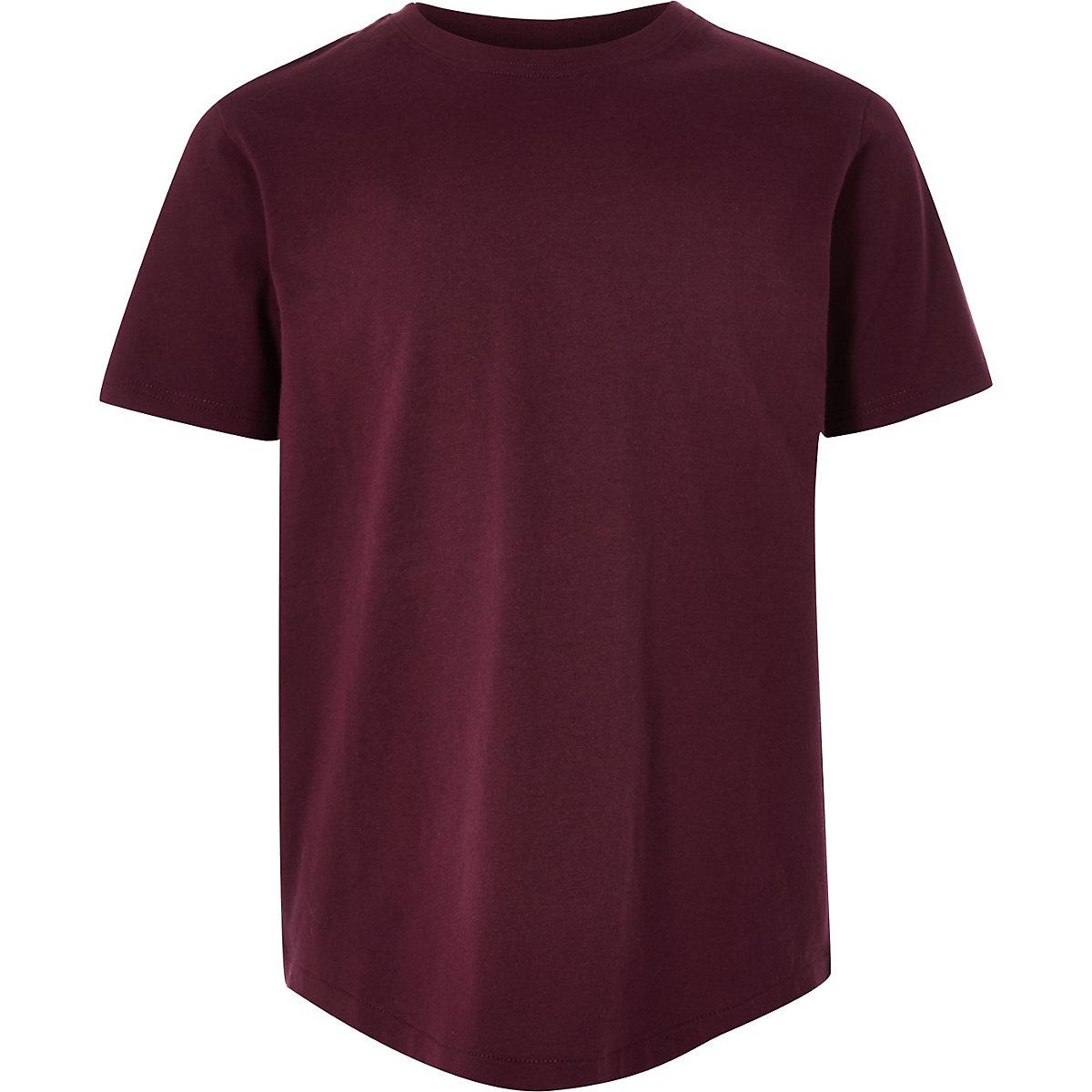 Boys burgundy short sleeve T-shirt