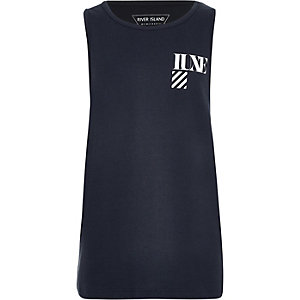Boys navy 'Luxe' tank