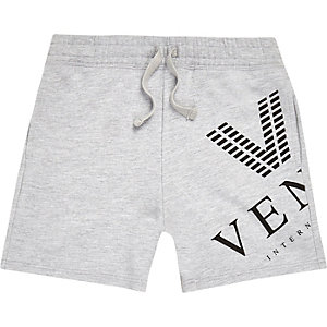 Boys grey marl 'Venti' shorts