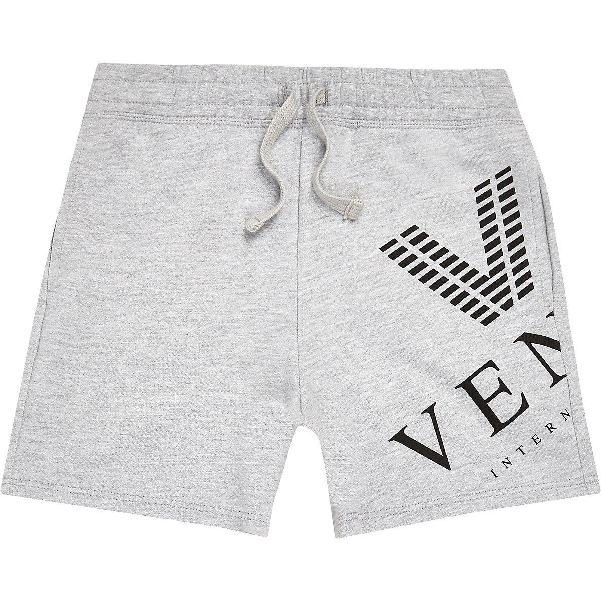 Boys grey marl 'Venti' shorts