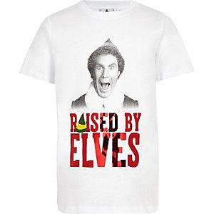 T-shirt blanc motif Elfe pour garçon