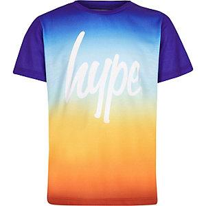 Hype – T-shirt à imprimé coucher de soleil dégradé orange pour garçon