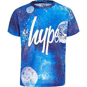 Hype – T-shirt à imprimé cosmique bleu pour garçon