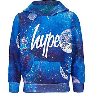 Hype - Blauwe hoody met kosmische print voor jongens