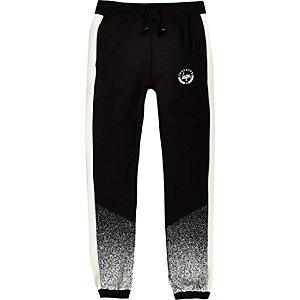 Hype - Zwarte joggingbroek met vervaagde spetterprint voor jongens