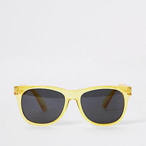 Boys yellow retro sunglasses