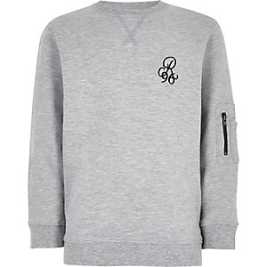 Boys grey 'R96' sweatshirt