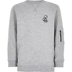 Sweat gris à motif « R96 » garçon