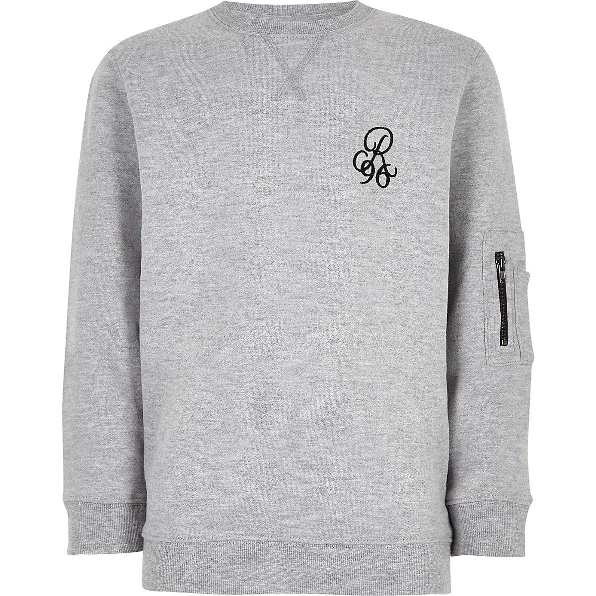 Boys grey 'R96' sweatshirt