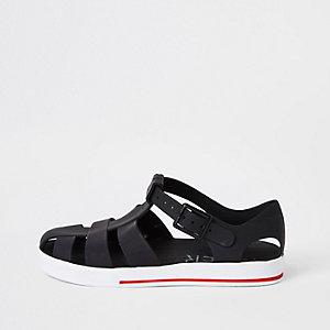 Sandales effet cage en plastique noir pour garçon