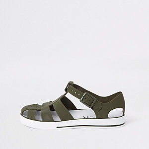 Jelly-Sandalen in Khaki
