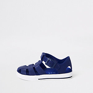 Marineblaue Jelly-Sandalen
