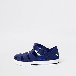 Mini - Marineblauwe jelly sandalen voor jongens