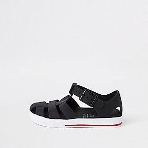 Schwarze Jelly-Sandalen