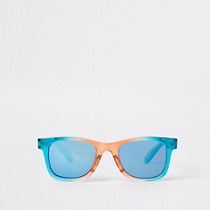 Mini boys rainbow retro blue lens sunglasses
