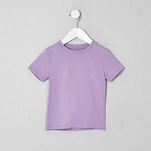 Mini boys purple T-shirt