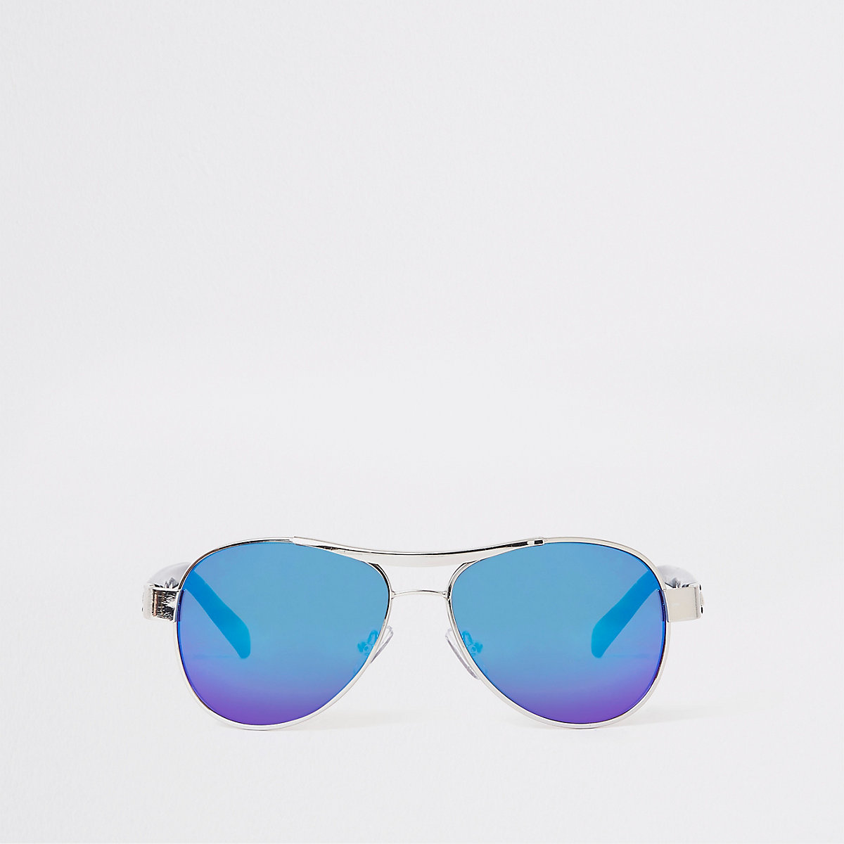 Boys silver tone aviator sunglasses
