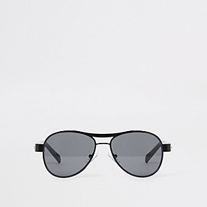 Boys black aviator sunglasses