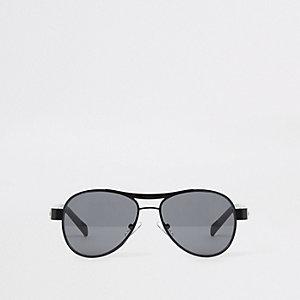 Zwarte pilotenzonnebril voor jongens