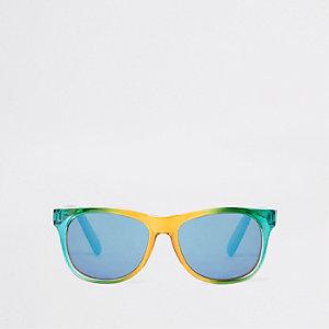 Retrozonnebril met regenboogprint voor jongens
