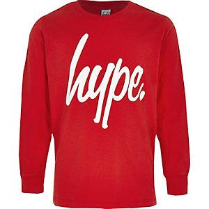 Boys red Hype Logo tape sweatshirt