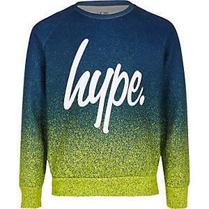 Boys green Hype speckle fade sweatshirt