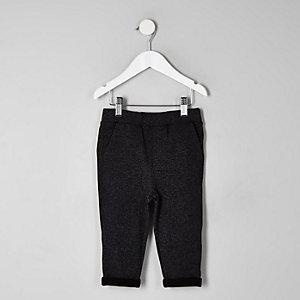 Mini - Grijze joggingbroek met textuur voor jongens
