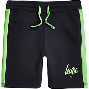 Boys navy Hype jersey shorts