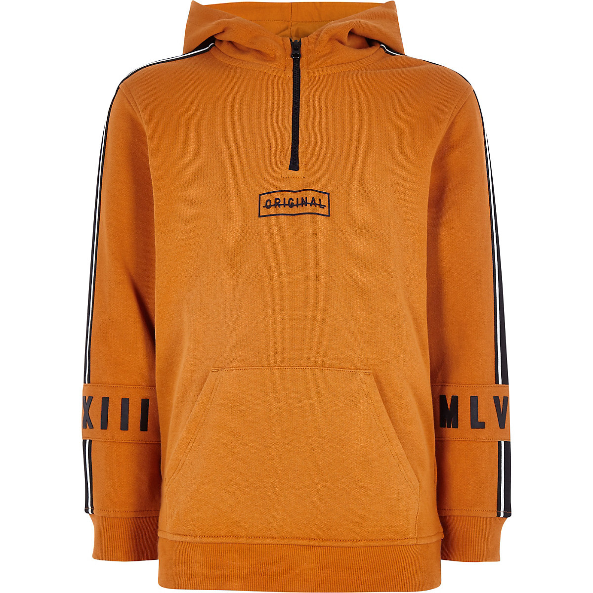 Boys dark yellow 'original' tape hoodie