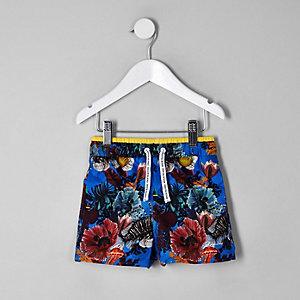Mini boys blue ocean swim shorts