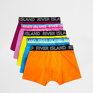 Boxershorts in Orange im Set