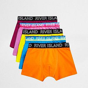 Multipack feloranje boxershorts voor jongens
