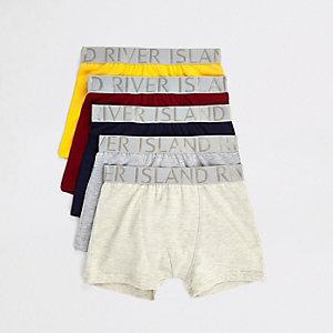 Multipack boxershorts in verschillende kleuren voor jongens