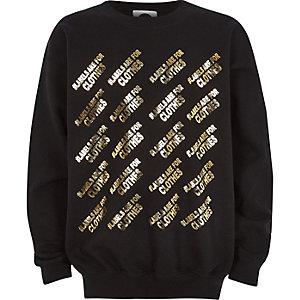 Ditch the Label – Schwarzes Sweatshirt