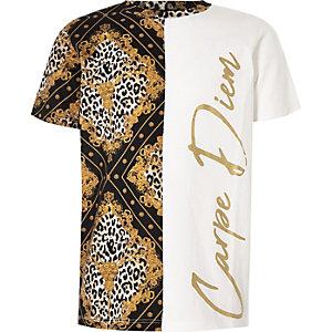 Boys white 'Carpe Diem' T-shirt
