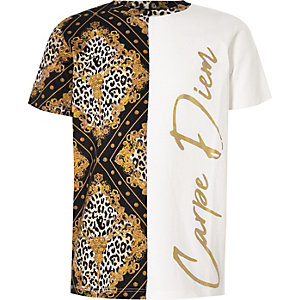 Boys white 'Carpe Diem' T-shirt