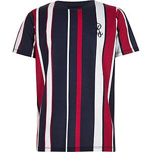 T-shirt « R96 » rayé bleu marine pour garçon